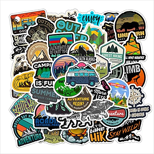 Outdoor Stickers 50PCS Nature Mountain Stickers Camping Adventure Climbing...