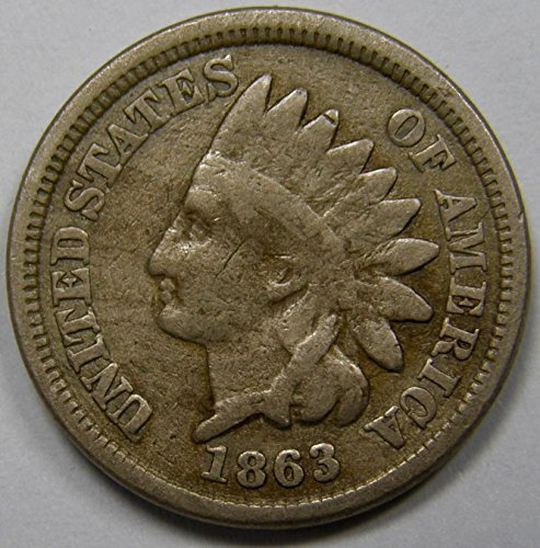 1863 U.S. Indian Head Copper-Nickel Cent/Penny Circulated