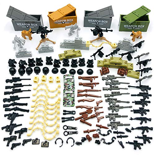 Taken All Custom Military Army Weapons and Accessories Set Compatible Major...