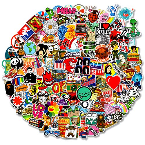 200 pcs Cool Random Stickers Vinyl Skateboard Stickers, Variety Pack for...