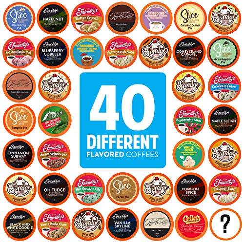 Two Rivers Coffee Flavored Coffee Pods Compatible with Keurig K Cup...