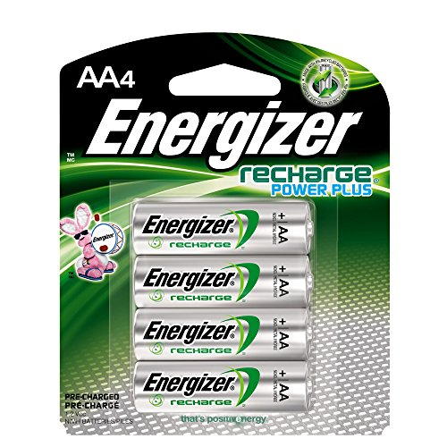 Energizer Rechargeable AA Batteries, NiMH, 2300 mAh, Pre-Charged, 4 count...