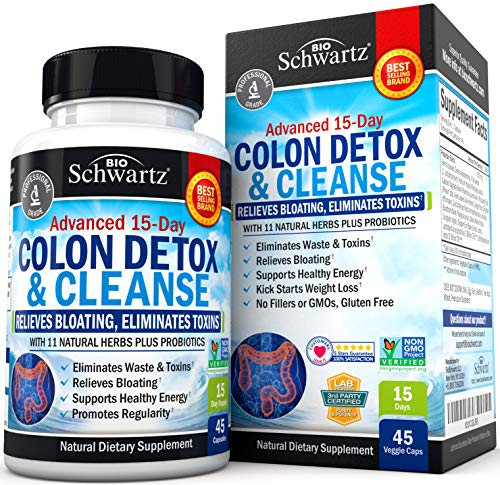 Colon Cleanser Detox for Weight Loss - 15 Day Fast-Acting Extra-Strength...