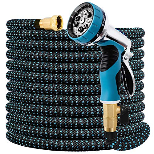Expandable Garden Hose 100 FT Water Hose with 9 Function Nozzle and Durable...