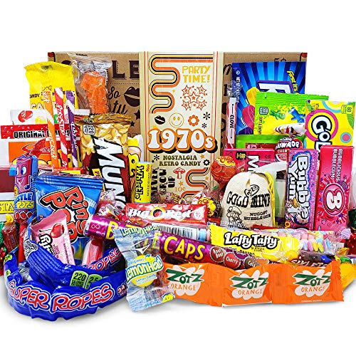 VINTAGE CANDY CO. 1970s RETRO CANDY GIFT BOX - 70s Nostalgia Candies -...