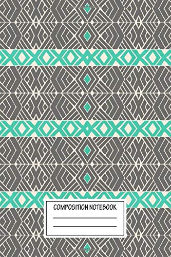 Composition Notebook: Abstract Going Tribal Tribal Patterns Wide Ruled Note...