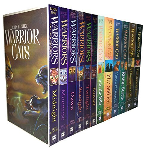 Warrior Cats Collection Erin Hunter 12 Books Set The New Prophecy, The...