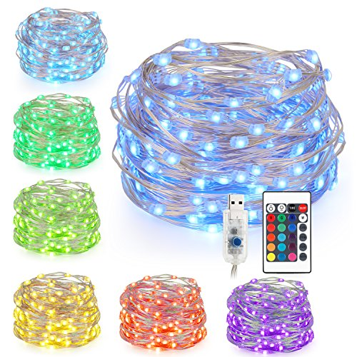 Kohree LED Fairy String Lights, Battery Powered Multi Color Changing...
