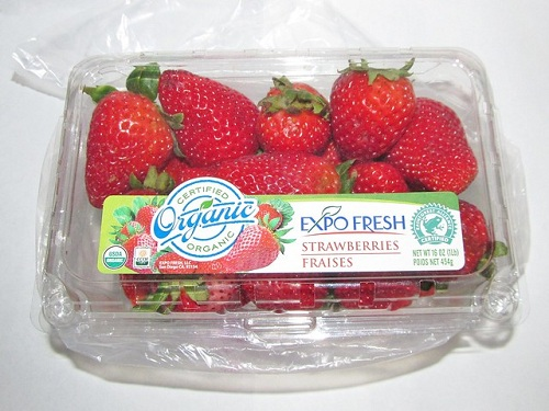 strawberry in a container