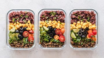 Photo of meals on a container